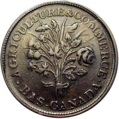 Montreal Quebec Canada Bouquet Sou Token Breton 680 Very Scarce