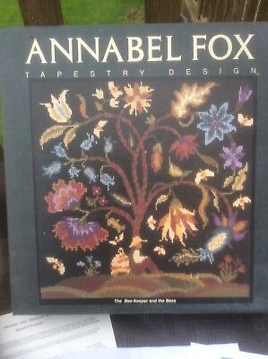 """VINTAGE 1994 Design By Annabel FOX Tapestry Kit """"THE BEE-KEEPER AND THE BEES """""""