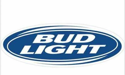 "2 pack Bud Light Vinyl Sticker Decal 6"" (full color) high quality FREE SHIPPING"