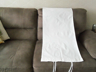 VINTAGE WHITE COTTON BOLSTER/PILLOW CASE (with ties)