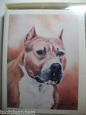American Staffordshire Terrier Notecards Best Friends by Ruth Maystead