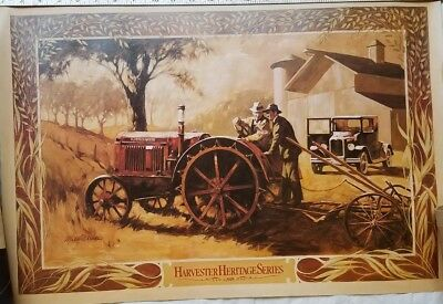 Vintage International Harvester Heritage Series Poster  IH Farmall Tractor 1929