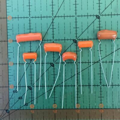 SPRAGUE RADIAL ORANGE DROP CAPACITOR 0.02uF 200v 2PS-S20 .02uf AUDIO AMP 2pcs