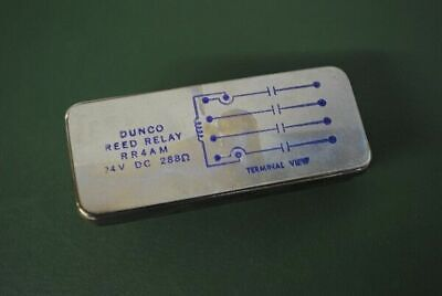 Dunco Struthers Dunn Reed Relay Rr4Am 24Vdc 288 Ohm Vintage Nos