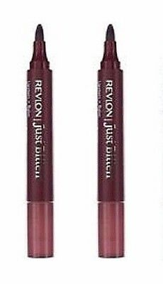 Lot of 2: NEW Revlon Just Bitten + Lip Stain Plus Balm Midnight Minuit (Sealed)