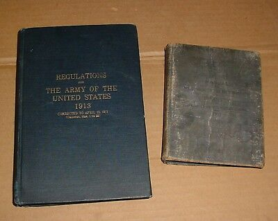 2 WW1 Regulation/Manual Books & 2 Discharge Papers Named 47th NY Infantry