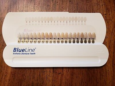 NEW Ivoclar Vivadent Blueline Denture Teeth Shade Guide + Mould and Form guide