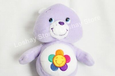 "CareBear Care Bear Purple 8"" Flower Harmony Bear Plush Soft Stuffed Toy"