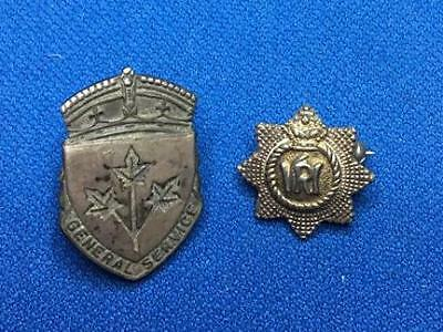 Sterling Silver General Service Pins. 92.5% Ag. 7.08g Weight.