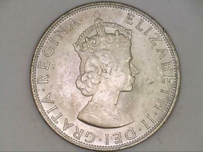 ***CHOICE GEM BU*** 1964 One Bermuda Crown Great Britain SILVER (CC3460)