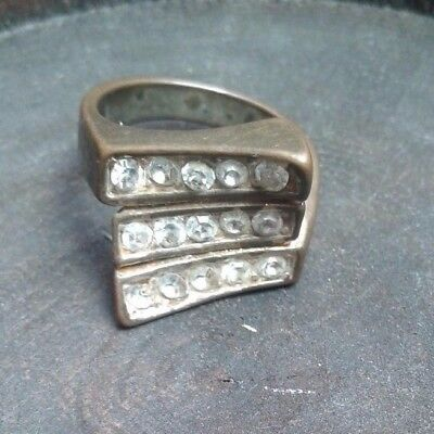 ancient old ring bronze studded with a stone of the roman