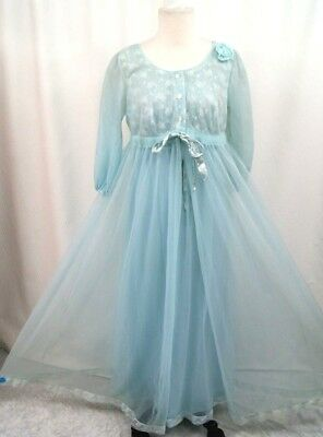 1950's GAYMODE PENNEY'S Baby Blue Peignoir Set Nightgown & Robe