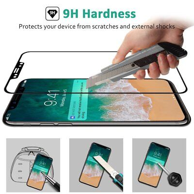 For Apple iPhone X XS & XS MAX  Full Coverage 9H Tempered Glass Screen Protector