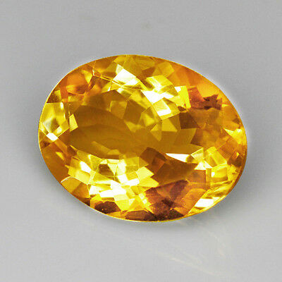 VVS 14.4Ct 15x20mm 100% Natural Brazilian Golden Citrine Precious Faceting UQY31