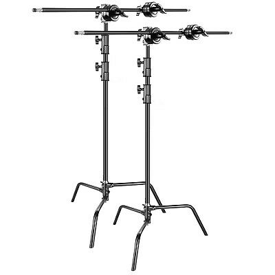 Neewer 2-pack Heavy Duty Light Stand C-Stand with Holding Arm and Grip Head