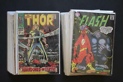 Huge Lot of 48 Old Marvel and DC Comic Books Silver Bronze Age Only Good Titles
