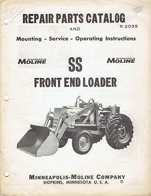 Minneapolis Moline Repair Catalog R-2035 SS Front End Tractor Loader