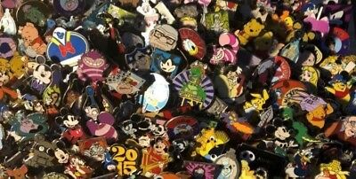 Disney Pin Trading Assorted Lot of 40 Pins - No Doubles - 100% Tradable