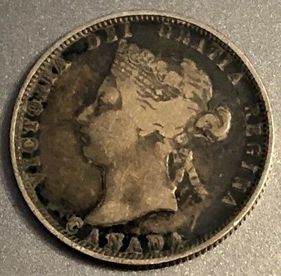 1881 Canada 25 Cents Silver