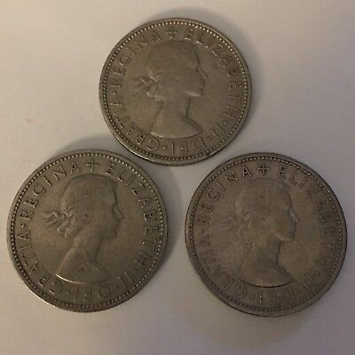 1961, 1962, 1966 Two Shillings Great Britain XF