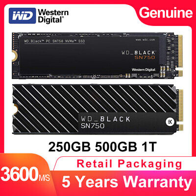 Western Digital WD Black 250GB 500GB 1TB NVMe PCIe 3.0x4 M.2 2280 Internal SSD