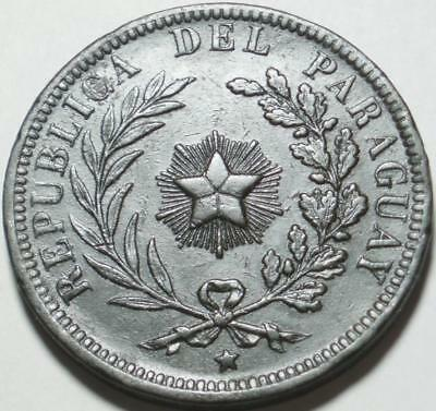 1870 PARAGUAY Huge, Heavy FOUR CENTESIMOS > First & LARGEST VALUE Decimal ISSUE