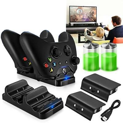 Dual Controller Charger Dock Charging Station With Battery Pack For Xbox One