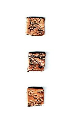 One(1) Ancient India,Mauryan Empire (321-187 BCE), Punch-marked Coin, Karshapana