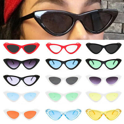 Womens Fashion Cat Eye Sunglasses Vintage Triangle Shades Retro Glasses Eyewear