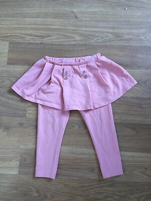 Mayoral Baby Girls Pink Leggings With Skirt 18 Months Very Good Condition