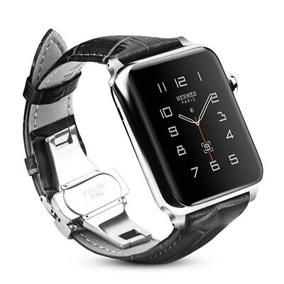 Genuine Leather Strap Wrist Bands for iWatch Apple Watch Series 4 44mm All Model