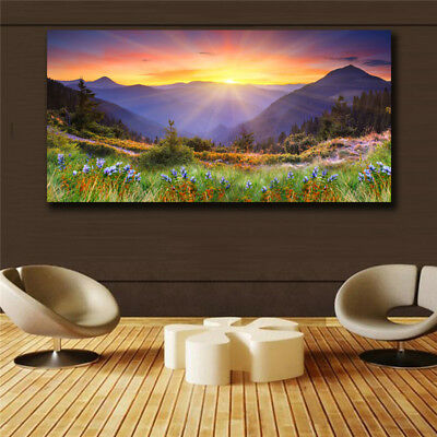 Scenery Abstract Art on Canvas Painting Wall Art Picture Prints Modern Decor