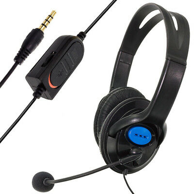Wired Gaming Headset Headphones with Microphone for PS4 PC Laptop Mac Phone Mac