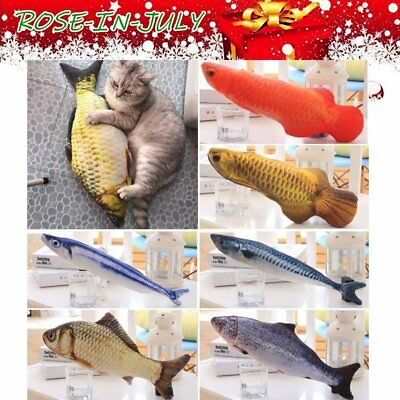 Pet Cat Play Fish Shape Mint Catnip Chewing Kids Gift Interactive Scratch Toy RO