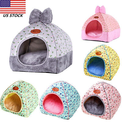 Creative Self-Warming Comfortable Triangle Cat Caver Bed Pet Tent Soft House US