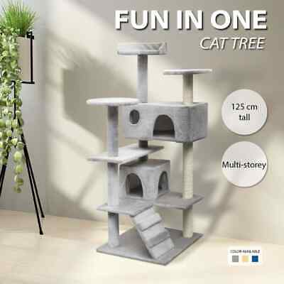 vidaXL Cat Tree Scratching Post Pole Pet Gym Condo Multi Models Multi Colours
