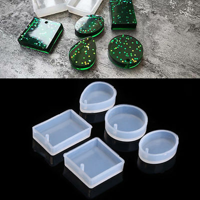 5 Pcs DIY Jewelry Making Mold Silicone Mould for Resin Pendant Necklace Earrings