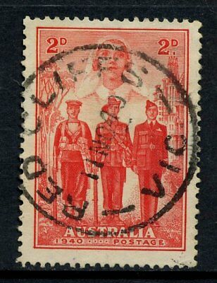 1940 Australian Imperial Forces 2d Red Used *RED CLIFFS VIC POSTMARK* SG 197 E88