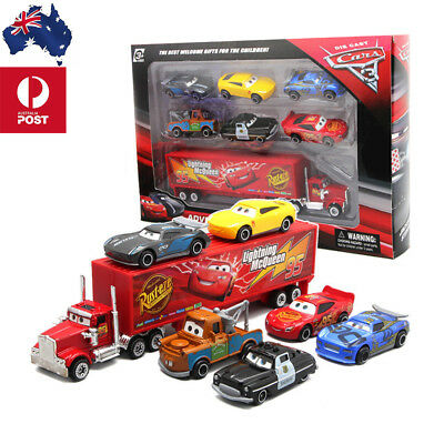 Cars 2 Lightning McQueen Racer Car&Mack Truck Collection 7PCS Set XMAS Gift AU
