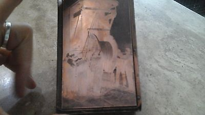 Vintage Copper Faced Wooden Printing Block Fig 23 Special Cable Car