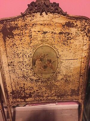 Antique French Iron small Bed - Day Bed - International Postage - Shabby Chic