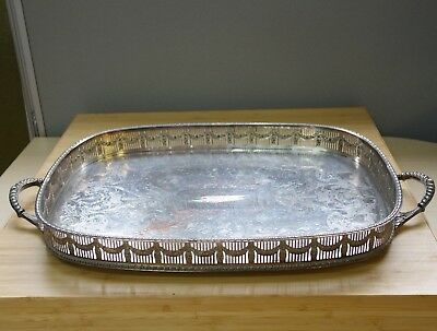 Antique PSL Sheffield Silver Plate Drink Tray Breakfast Serving Dish Collectable