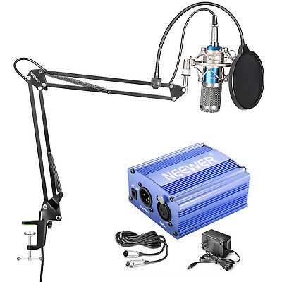 Neewer NW-800 Condenser Microphone Kit with Mic Stand Shock Mount and Pop Filter