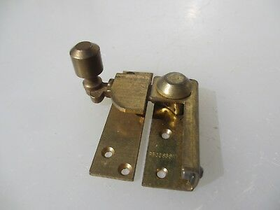 Vintage Brass Sash Window Latch Lock Catche Fastener Old Antique 1949 Art Deco