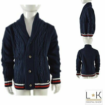 Cardigan in Misto Lana con Collo Smoking Bambino Dr.Kids R02DK632