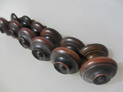 Antique Wooden Dresser Knobs Chest of Drawer Handles Pulls Hardware x6 Old