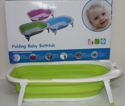 Baby Bath Tub Foldable Toddler Kids Infant Wash Play Plastic