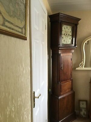 Antique Grandfather Clock - Walker & Hughes - James Solomon on Dial