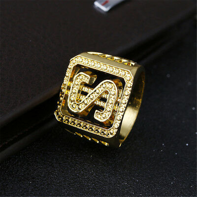 Men's 18K IP Gold Hip Hop Dollar Sign 3D Ring Size Available 6 7 8 9 10 11 12 13