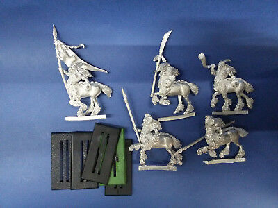 Warhammer Fantasy 5x Metal Centigors with command group - Games Workshop